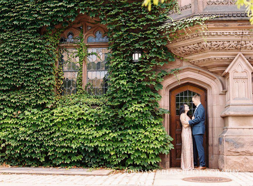 Princeton University summer engagement session.