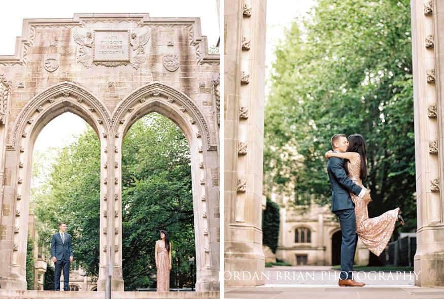 Summer engagement session at Princeton University.