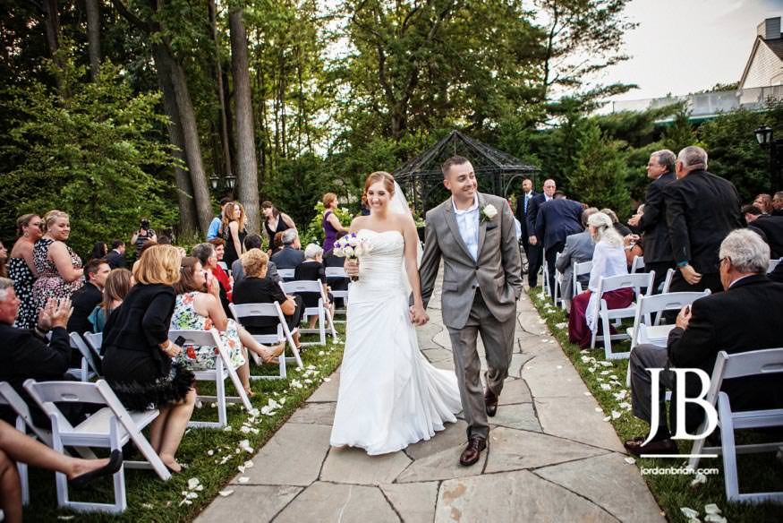 english manor wedding ceremony outside