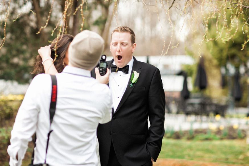 Bride and groom portraits at Spring Shadowbrook wedding.