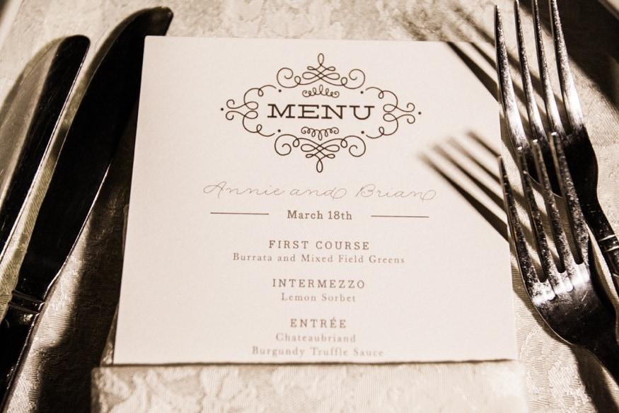 Reception details at Spring Shadowbrook wedding.