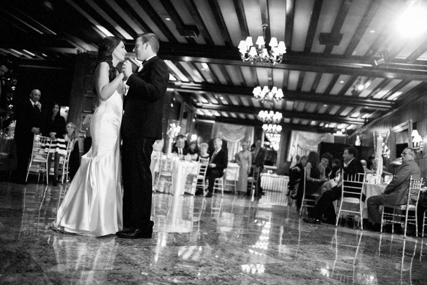 Bride and groom first dance at Spring Shadowbrook wedding.