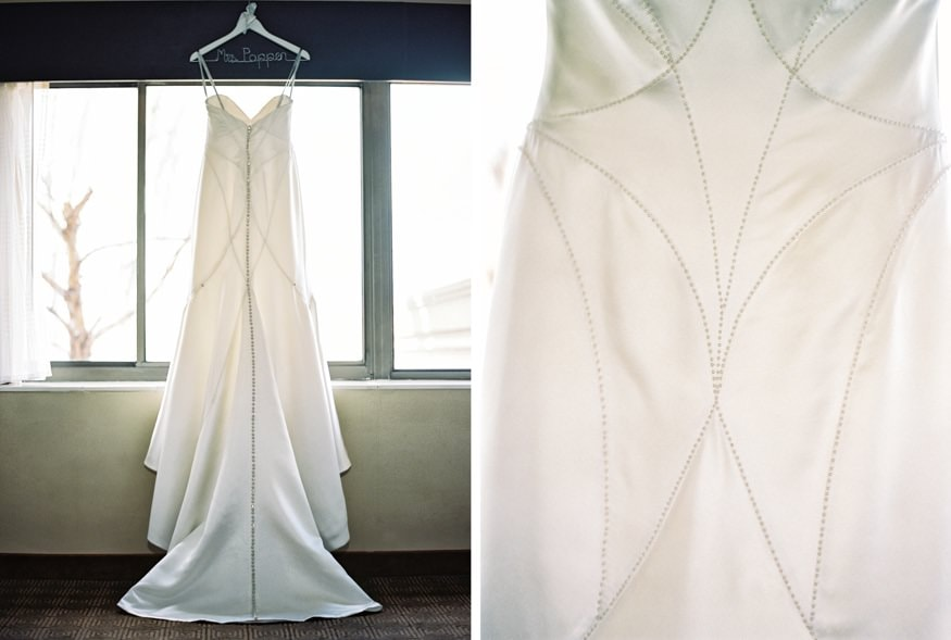 Wedding dress at Spring Shadowbrook wedding.