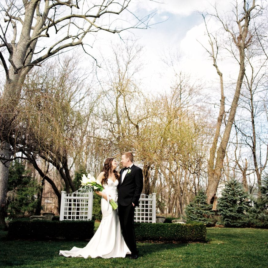 Bride and groom portraits at Spring Shadowbrook wedding.