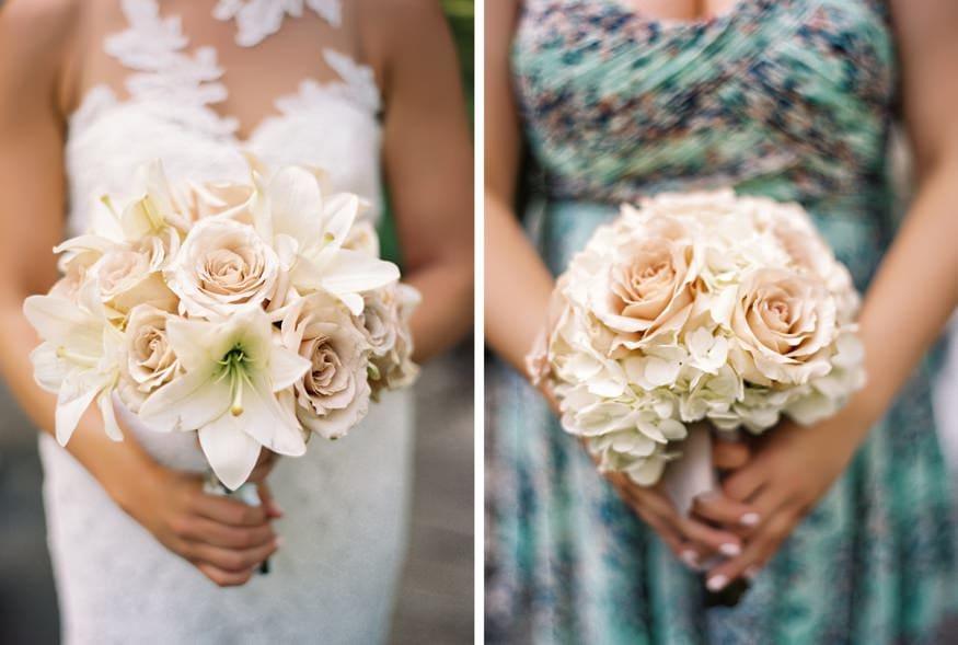 Wedding bouquets by Pod Shop Flowers.