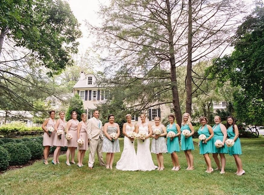 HollyHedge wedding bridal party portraits.
