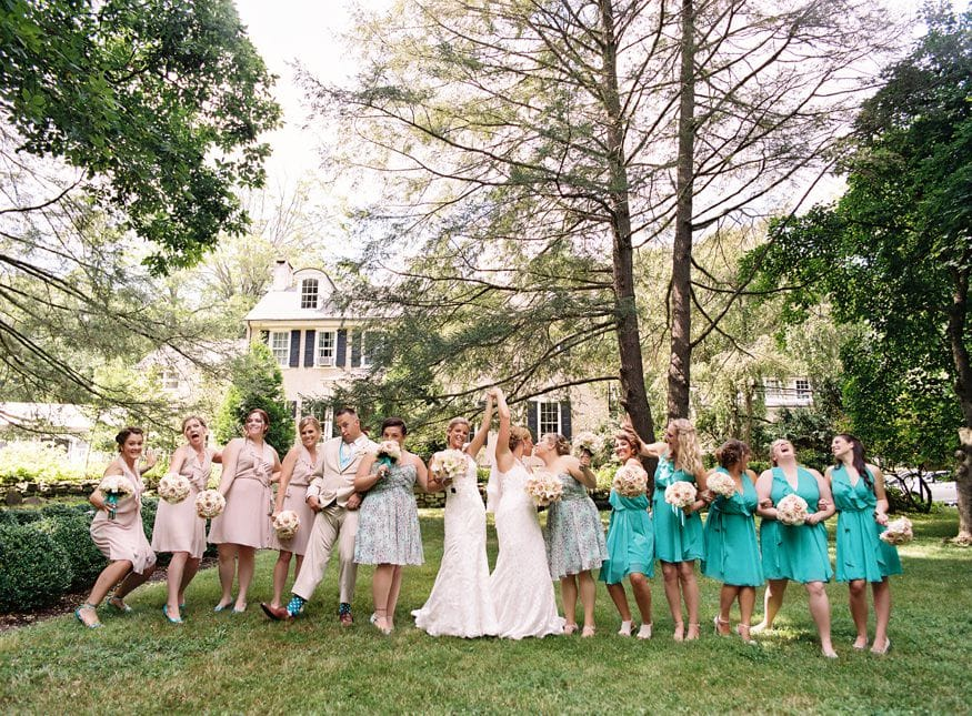Holly Hedge same sex wedding bridal party portraits.