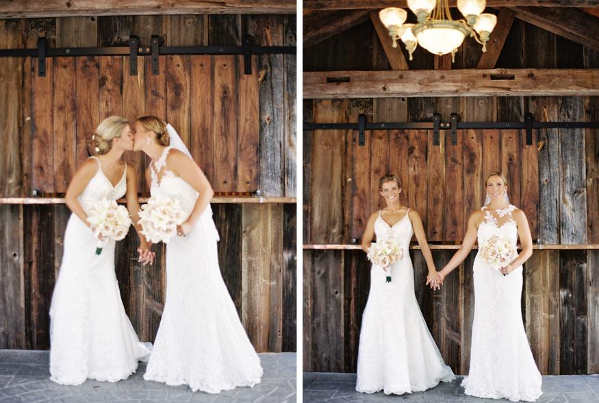 same sex Holly Hedge wedding portraits.