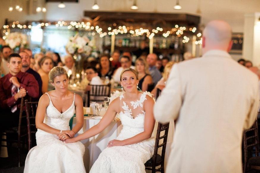 Toast at Holly Hedge same sex wedding.