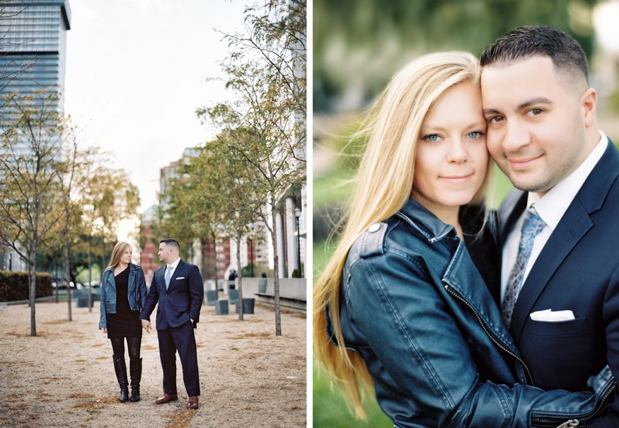 Jersey City fall engagement session.