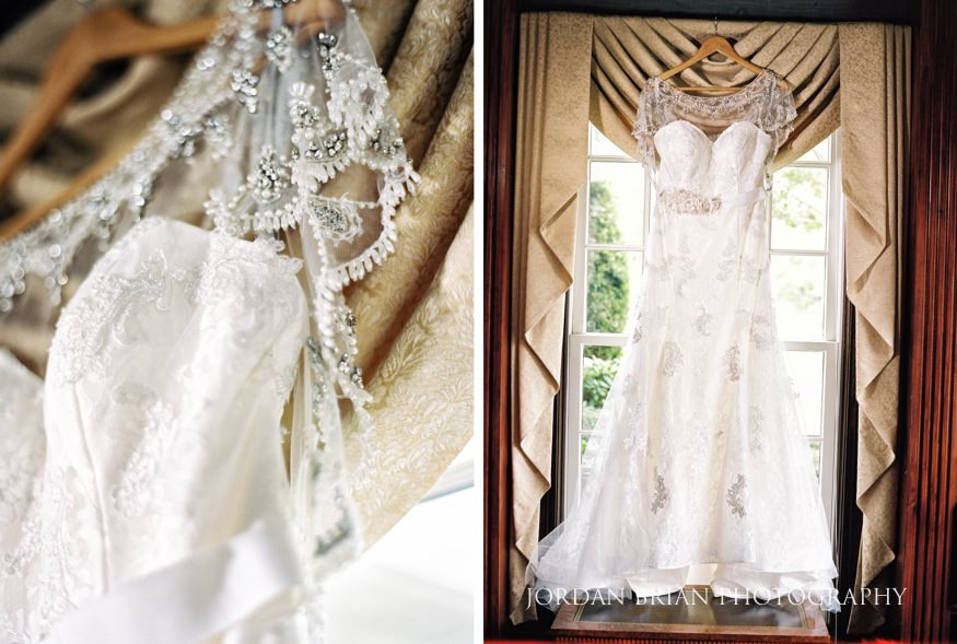 Bride's dress and details