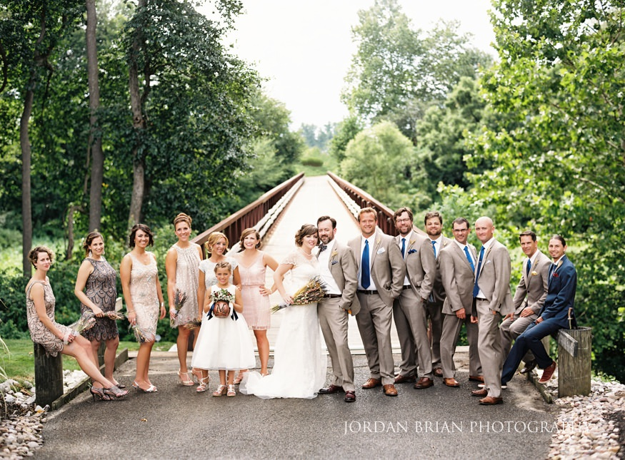 Bridal party portrait at Laurel Creek Country Club Wedding