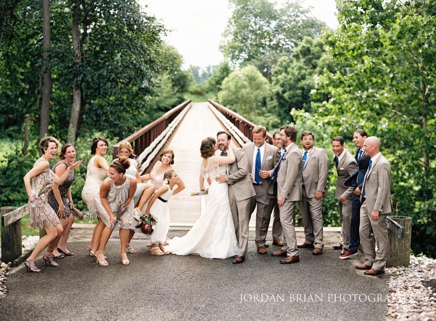 Bridal party portrait at Laurel Creek Country Club Wedding