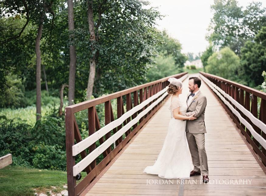 Bride and groom portrait at Laurel Creek