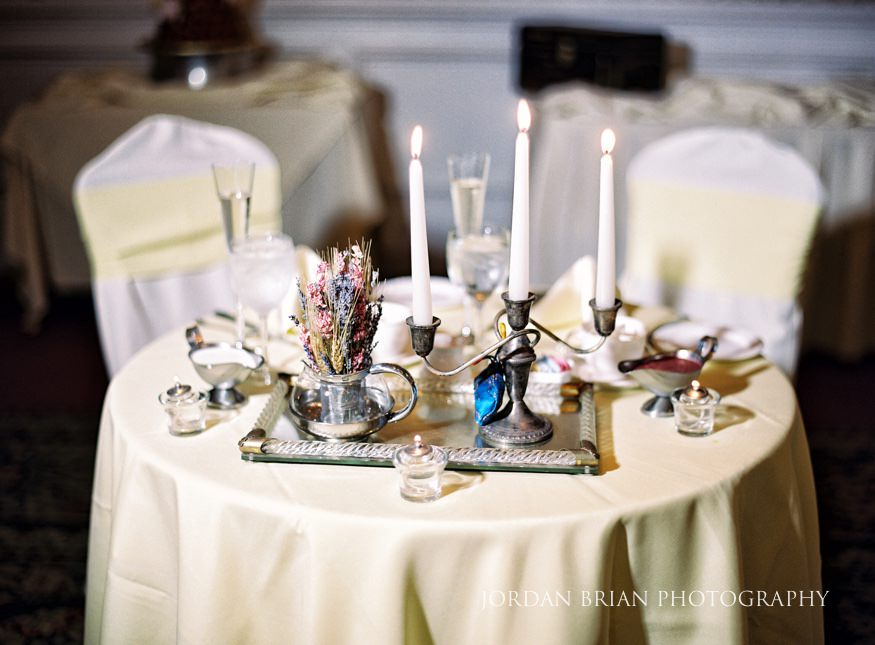 Sweetheart table at Laurel Creek