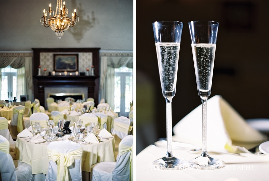 Wedding reception details at Laurel Creek Country Club