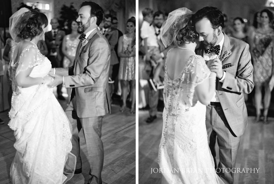 Bride and Groom first dance at Laurel Creek wedding