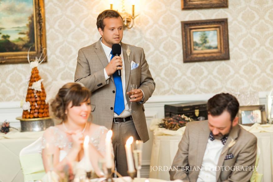 Best man toast at Laurel Creek Wedding