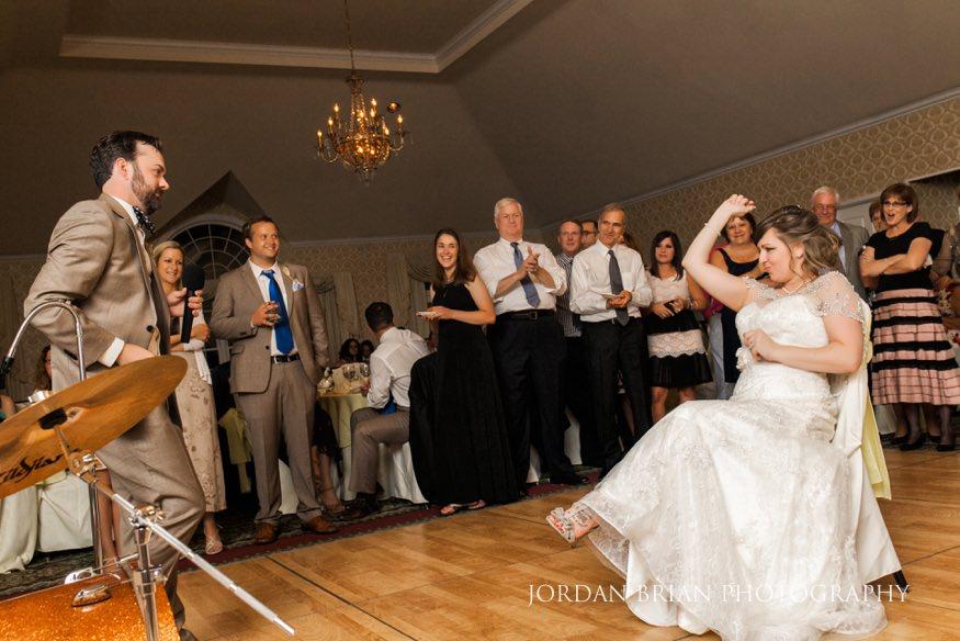 Bride and groom at Laurel Creek wedding reception