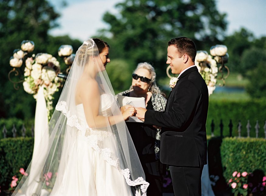 Outdoor summer wedding ceremony at the Park Savoy.