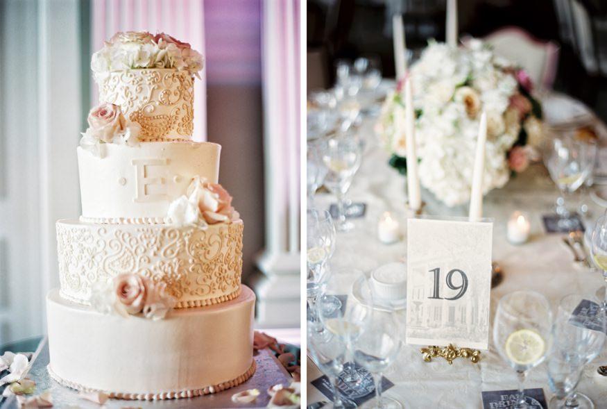 park savoy estate wedding reception cake