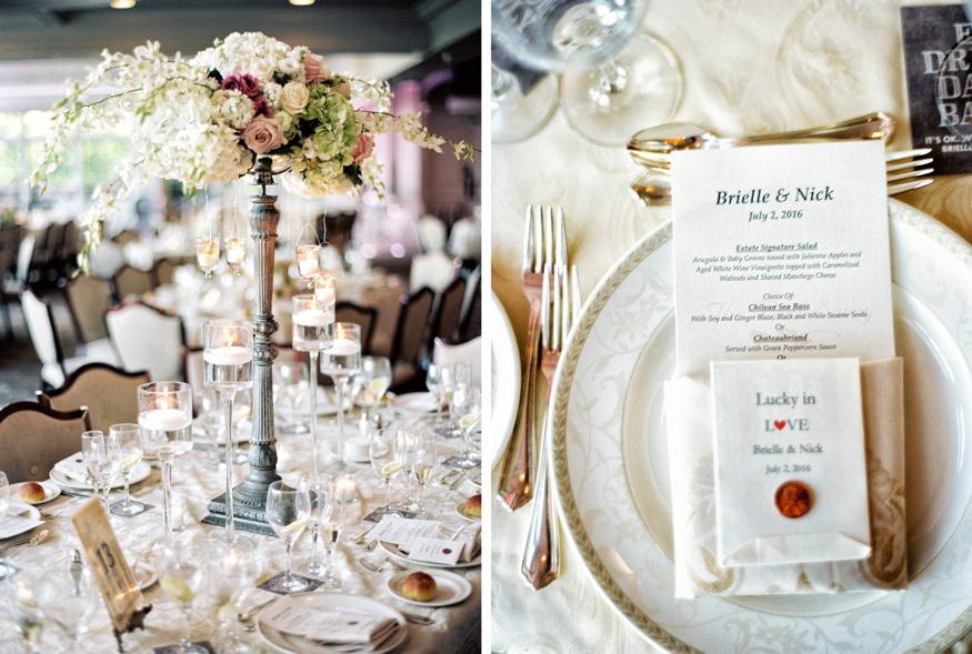 Reception at Park Savoy summer wedding.