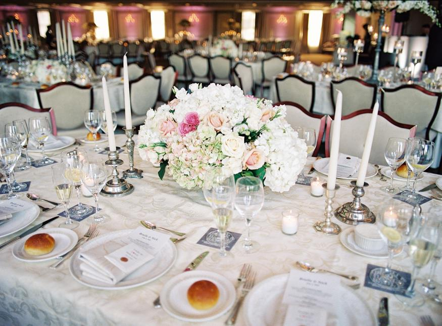 park savoy estate wedding reception table center pieces