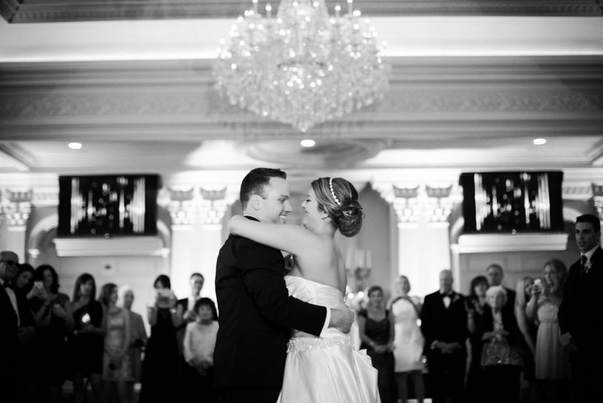 Bride and groom first dance at the Park Savoy summer wedding.