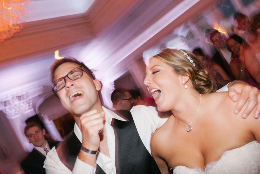 Wedding reception dancing at summer wedding at Park Savoy.
