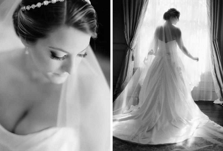 park savoy estate wedding bride portrait in bridal suite