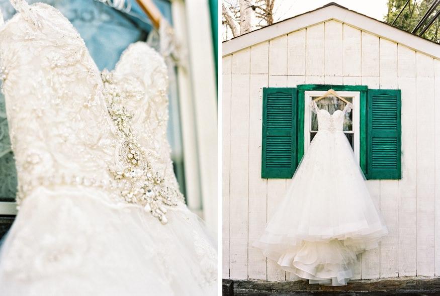 Bride's wedding dress from L&H Bridal.