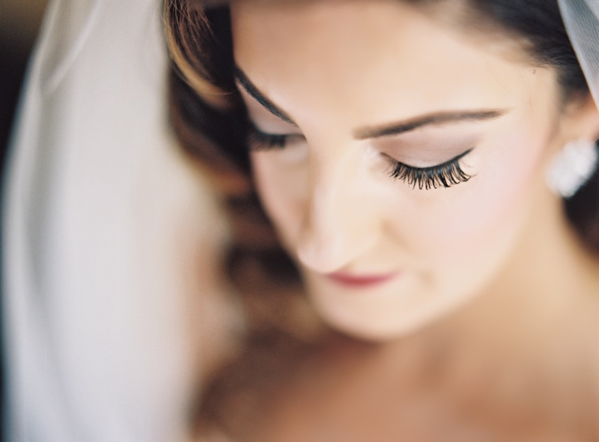 Bride's portraits before wedding at Ballroom at the Ben.