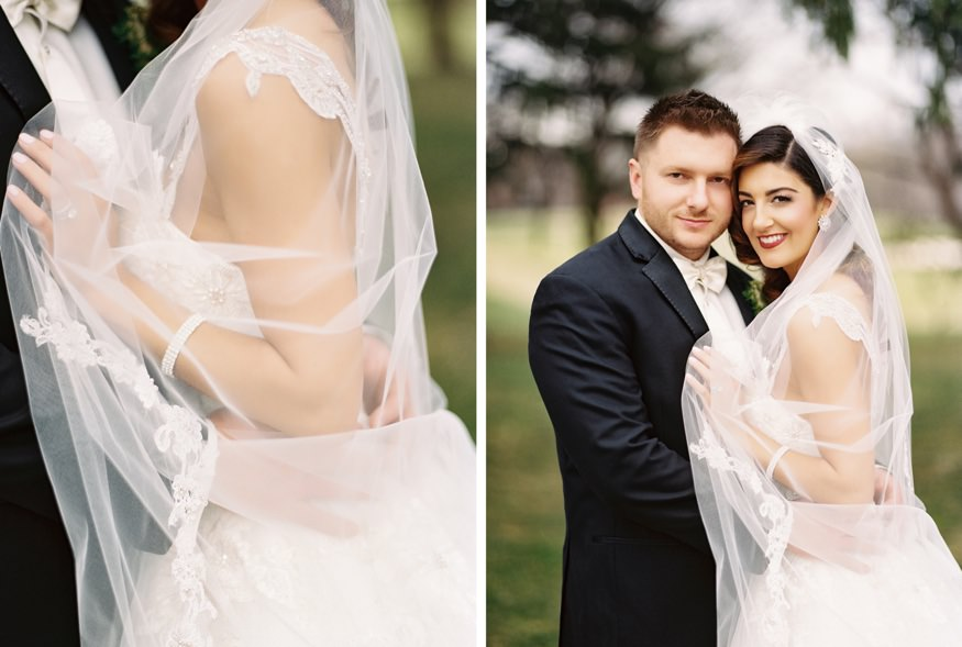Bride and Groom portraits at Aronimink Golf Course.