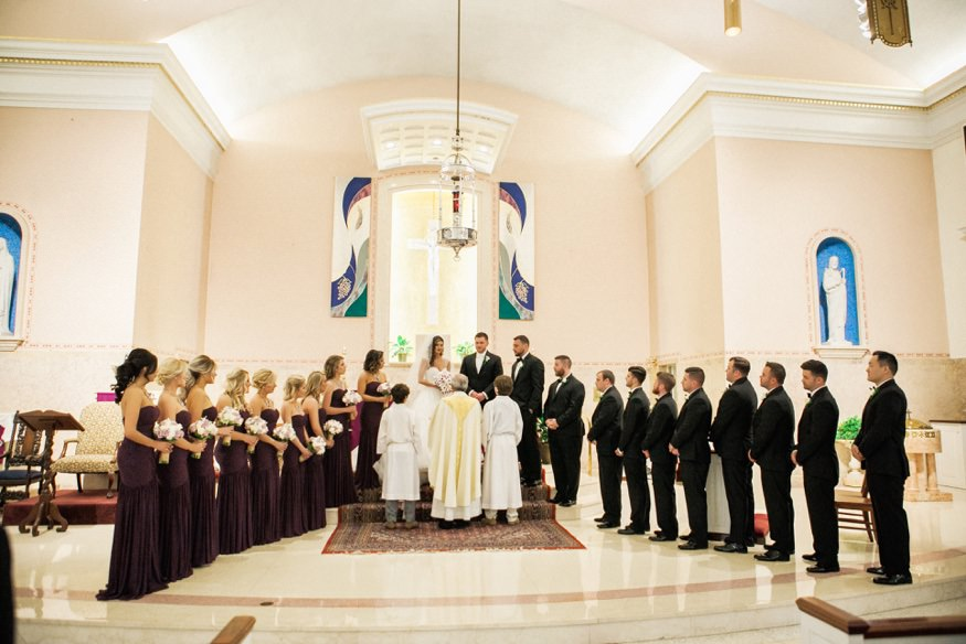 Wedding ceremony at St Anastasia Church.