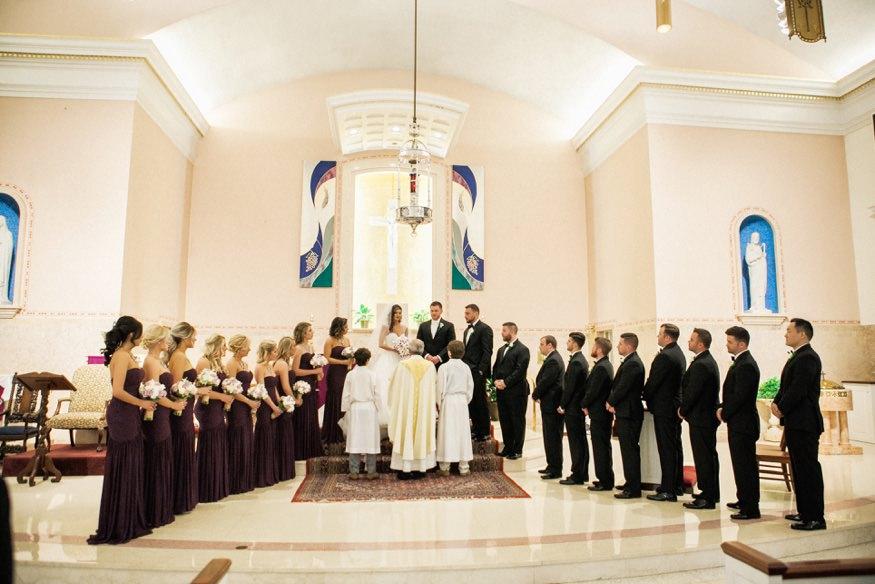 Wedding ceremony at St Anastasia Church.