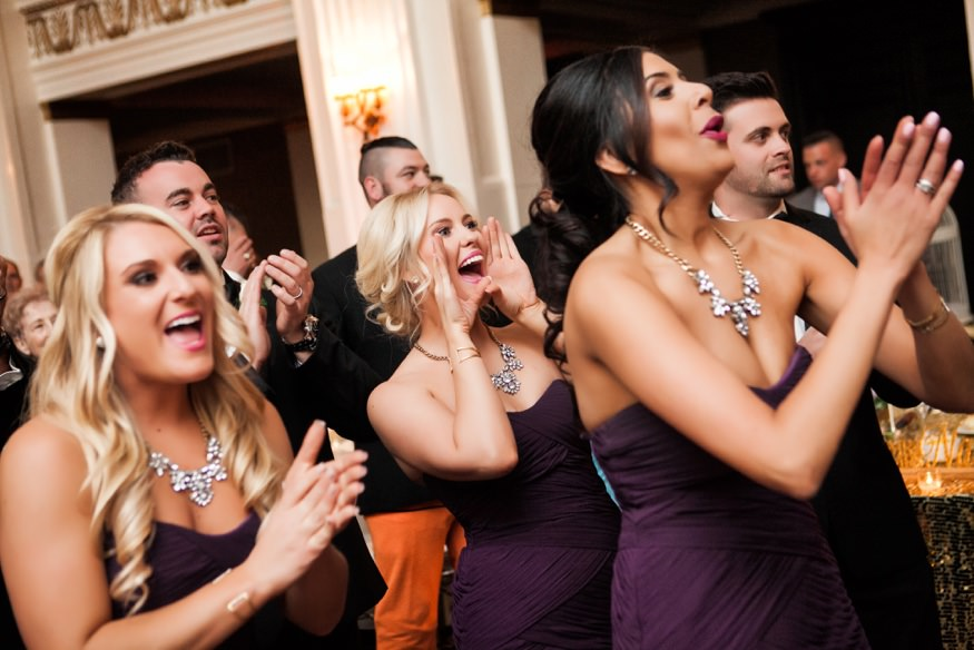 Bridal party reception entrance at Ballroom at the Ben wedding.