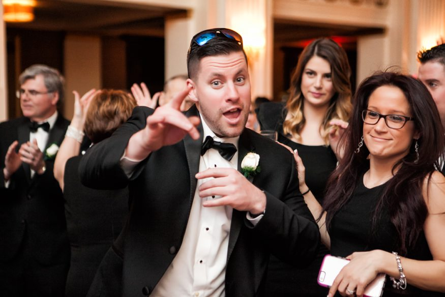 Wedding reception dancing spring Ballroom at the Ben in Philadelphia.