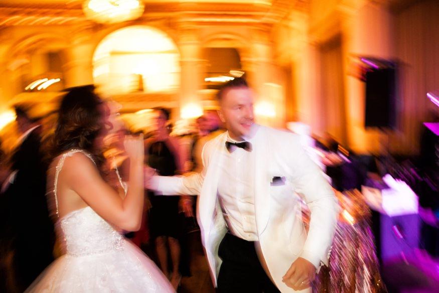 Wedding reception dancing at Ballroom at the Ben in Philadelphia.