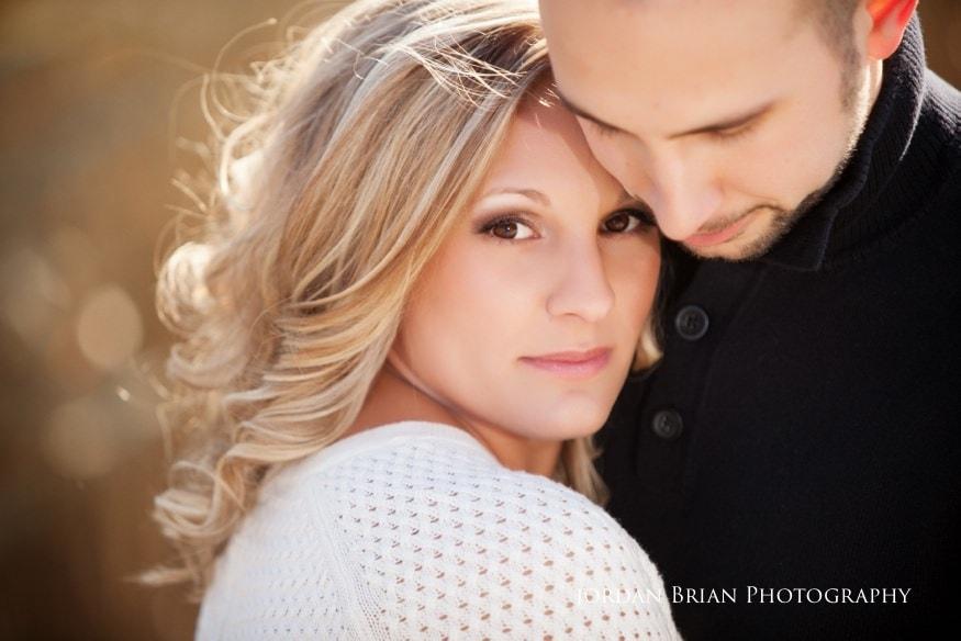 portrait of couple at fdr park engagement
