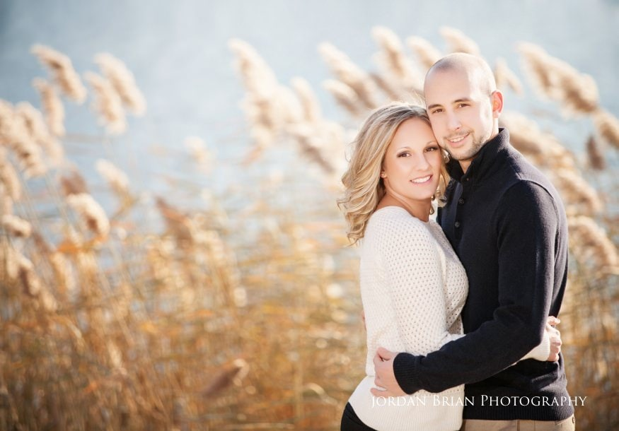 couple by water at philadelphia fdr park