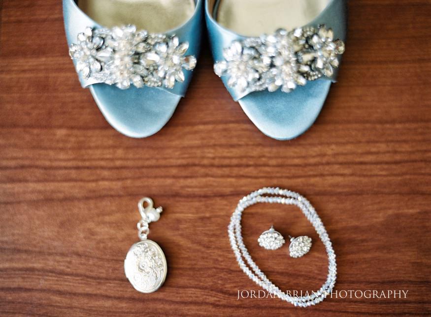 Bride's Badgley Mischka shoes