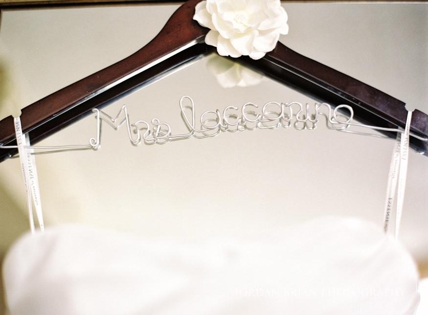 Bride's dress details