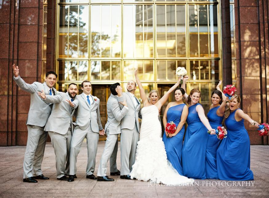 Bridal Party at City Hall in Philadelphia