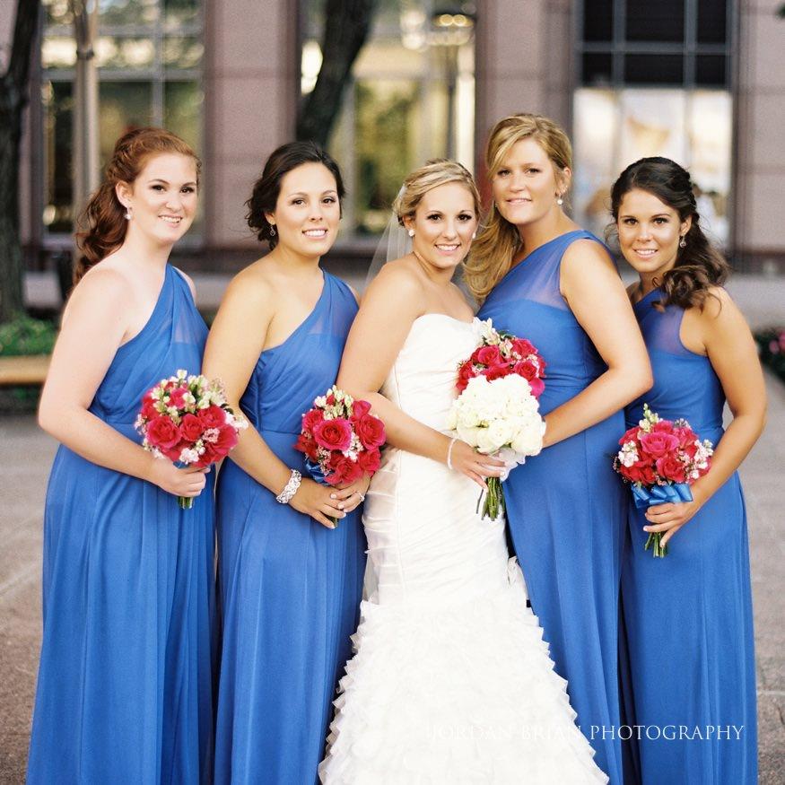 Bridesmaids at City Hall in Philadelphia
