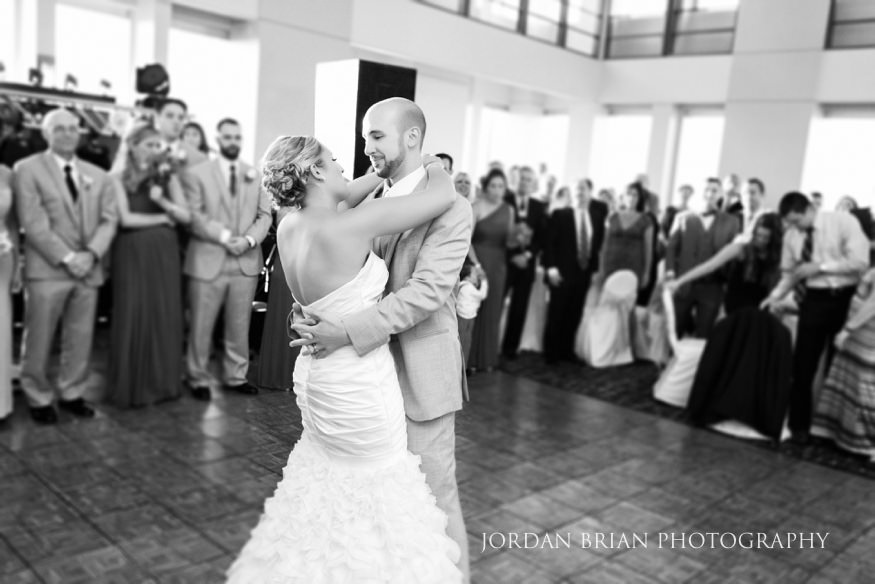 Bride and Groom first dance at VUE on 50 wedding reception.
