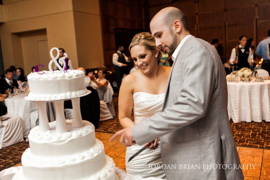 Cake cutting at VUE on 50 wedding.