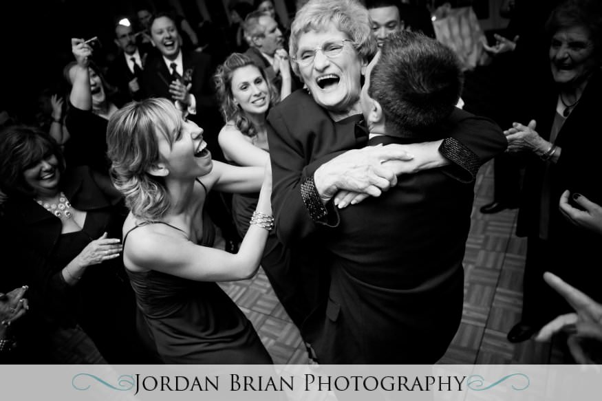 New Jersey wedding photography. Jordan Brian Photography Wedding of Dena & Pete – Forsgate Country Club – Monroe Township, NJ grandma hug