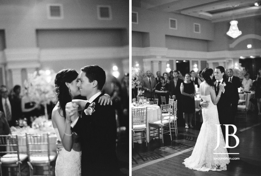 arts ballroom wedding bride and groom first dance
