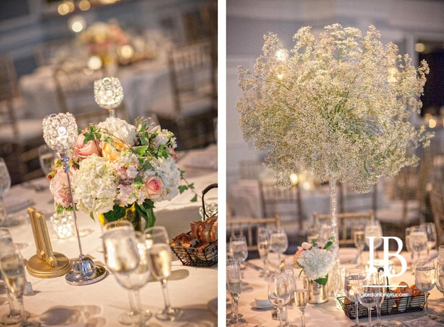 summer arts ballroom wedding table decor