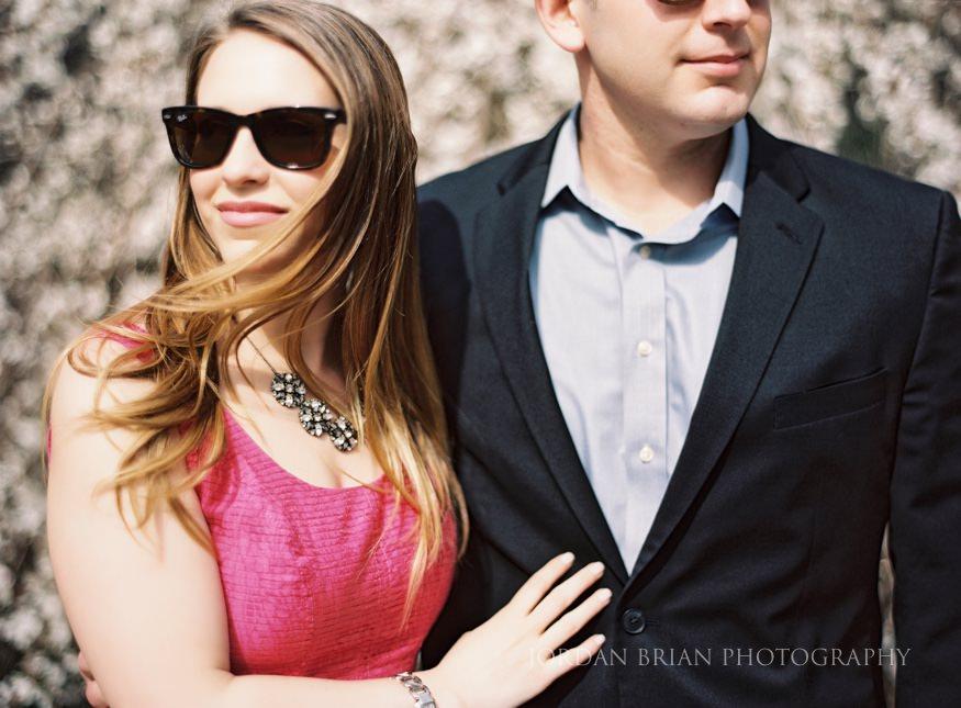 modern couple at philadelphia zoo engagement